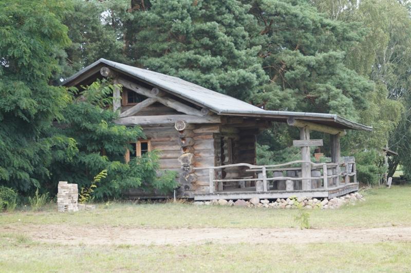Blockhütte im Bisonpark Krügrsdorf